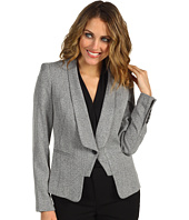 Anne Klein Petite - Petite Tweed One Button Jacket