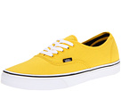 Vans - Authentic (Lemon Chrome/Black) - Footwear