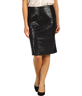 Anne Klein Petite - Petite Alligator Straight Skirt