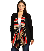 Anne Klein Plus - Plus Size Striped Flyaway