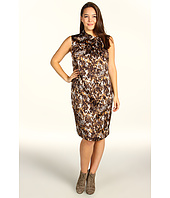 Anne Klein Plus - Plus Size Snakeskin Print Sleeveless Dress
