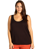 Anne Klein Plus - Plus Size Tank Top w/ Contrast Trim