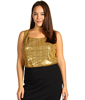 Anne Klein Plus - Plus Size Sequin Scoop Neck Tank Top