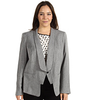 Anne Klein Plus - Plus Size Tweed One Button Jacket