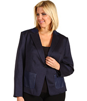 Anne Klein Plus - Plus Size Herringbone Jacket