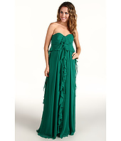 Badgley Mischka - Strapless Ruffle Front Gown