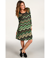 Karen Kane - Flare Sleeve Chevron Dress