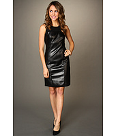 DKNYC - Sleeveless Dress w/ Faux Leather