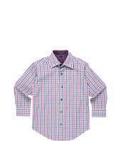 Ike Behar Kids - L/S Woven Sport Shirt w/ Contrast Detail (Little Kids)