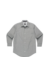 Ike Behar Kids - L/S Micro Plaid Woven Sport Shirt (Big Kids)