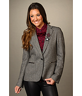 Maison Scotch - Tweed Blazer w/ Star Brooches
