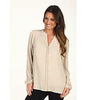 DKNYC - L/S V-Neck Button Blouse