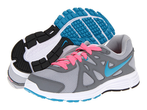 Nike - Revolution 2 (Wolf Grey/Cool Grey/Digital Pink/Neo Turquoise) Women's Running Shoes