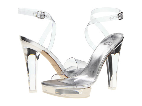 Shop Stuart Weitzman Bridal & Evening Collection online and buy Stuart Weitzman Bridal & Evening Collection Visual Clear Vinyl Shoes - Stuart Weitzman Bridal & Evening Collection - Visual (Clear Vinyl) - Footwear: The perfect visual for your special night! ; Transparent vinyl upper. ; Adjustable buckle closure. ; Lightly padded footbed. ; Lucite heel and platform. ; Leather sole. ; Made in Spain. Measurements: ; Heel Height: 5 in ; Weight: 12 oz ; Platform Height: 1 in ; Product measurements were taken using size 7.5, width M. Please note that measurements may vary by size.