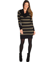 French Connection - Striped Baby Knit Cowl Sweater Dress