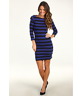 French Connection - Stretch Stripe 3/4 Sleeve Dress