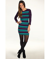French Connection - Jessie Stripe 3/4 Sleeve Dress