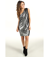 Vince Camuto - Pleated Metallic One-Shoulder Dress