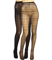 Betsey Johnson - 2 Pack Stripe Net Solid Tight