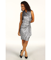 Karen Kane - Texture Metallic S/L Wrap Dress