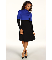 Karen Kane - Rayon Spandex Jersey Color Block Turtleneck Dress