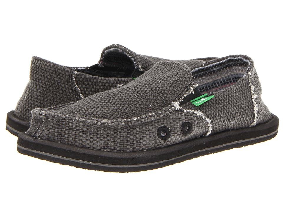 Sanuk Kids - Vagabond (Little Kid/Big Kid) (Black) Boys Shoes