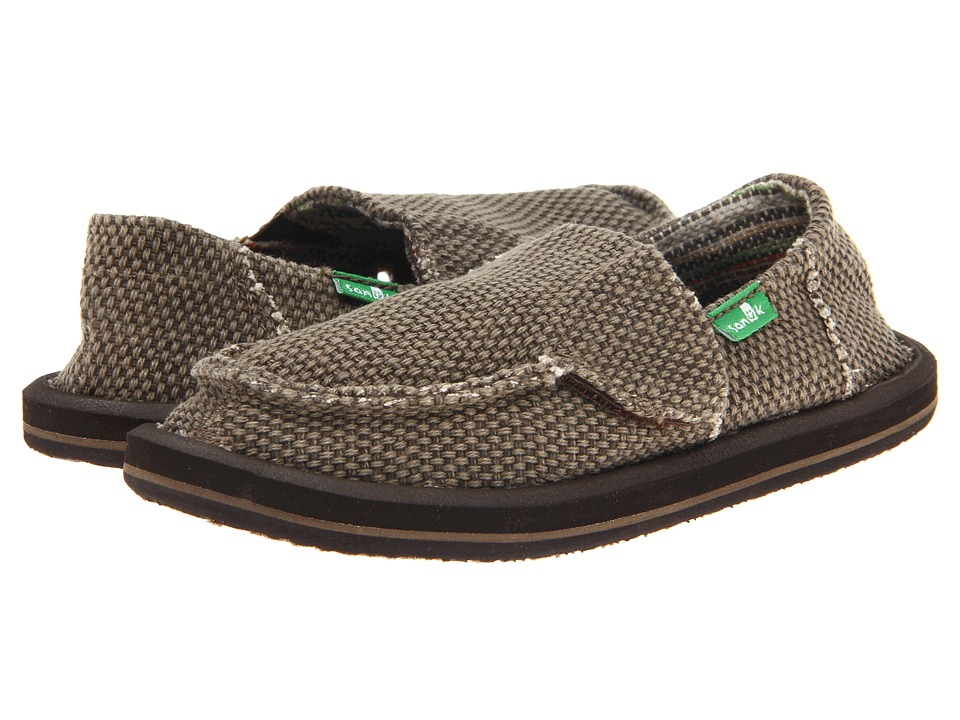 Sanuk Kids Vagabond (Toddler/Little Kid) (Brown) Boys Shoes