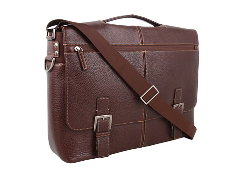 Boconi Bags and Leather Tyler - Tumbled Expandable Flap Brief Messenger