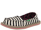 Sanuk Kids - Castaway (Youth) (Black/Stripes) - Footwear