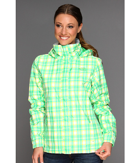 The North Face - Women's Novelty Resolve Jacket (Mojito Green Plaid) - Apparel