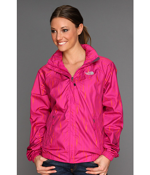 The North Face - Women's Geosphere Jacket (Fuchsia Pink Rain Print) - Apparel