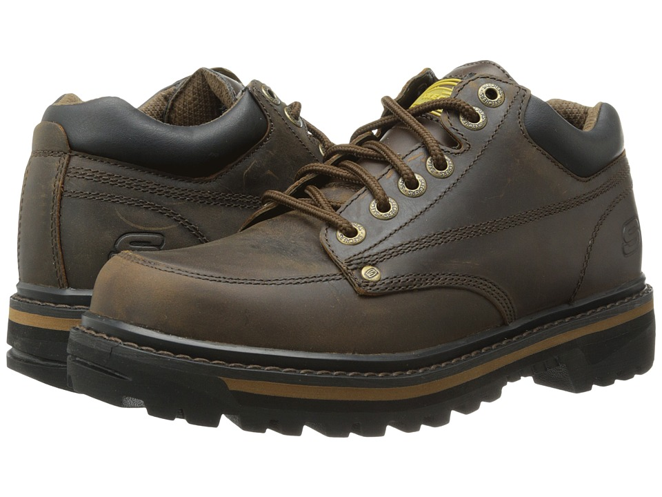SKECHERS - Mariner (Dark Brown Crazyhorse Leather) Mens Lace-up Boots
