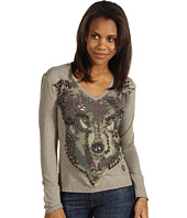 Double D Ranchwear - Studded Wolf Tee