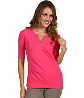 Red Dot - 1/2 Sleeve Shirred Front Top