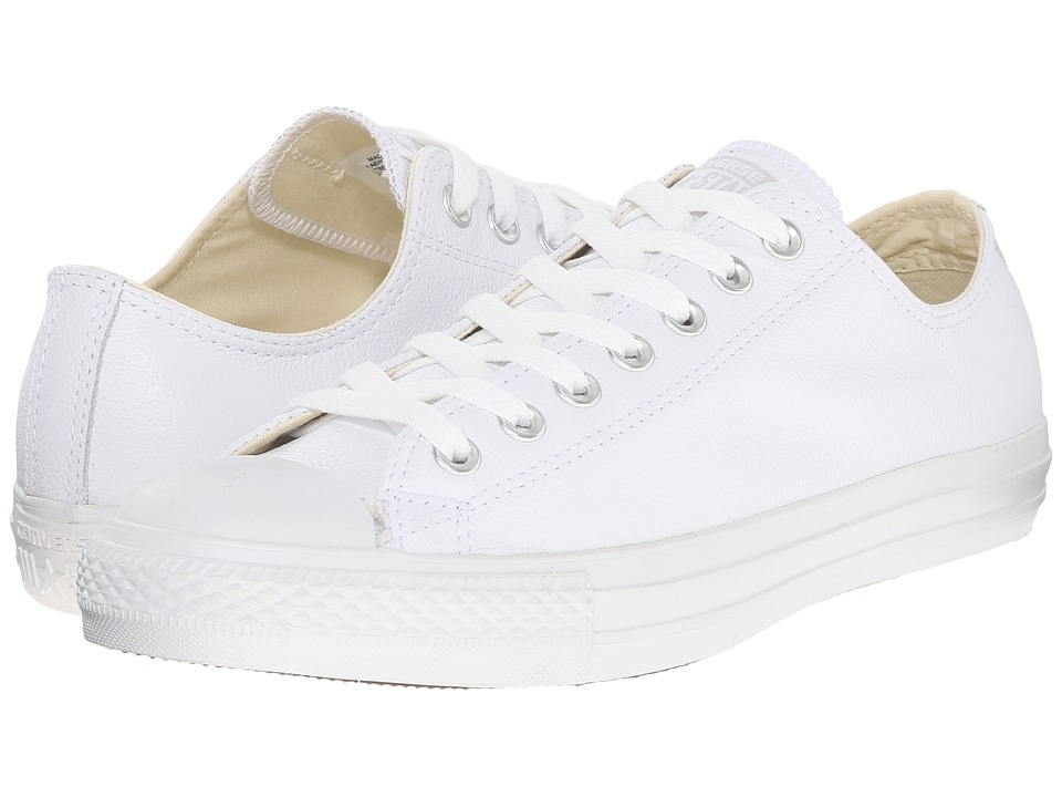 Converse Chuck Taylor All Star Leather Ox White Monochrome Shoes