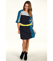 Eliza J - 3/4 Seeve Color-Block Dress