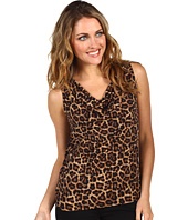 MICHAEL Michael Kors Petite - Petite Jaguar Print Sleeveless Cowl Neck Top