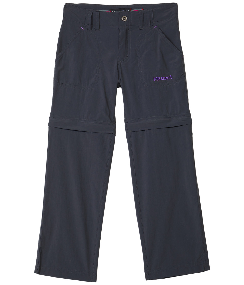 Marmot Kids - Lobos Convertible Pant (Little Kids/Big Kids) (Dark Steel 2) Girls Casual Pants