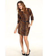 MICHAEL Michael Kors Petite - Petite Persian Leopard Boatneck Dress