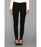 NYDJ - Sheri Skinny Jean in Black Geometric Coated Glitter