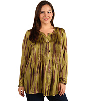 MICHAEL Michael Kors Plus - Plus Size Scatter Feather Print Top