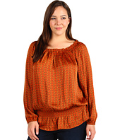 MICHAEL Michael Kors Plus - Plus Size Durham Chain Peasant Top
