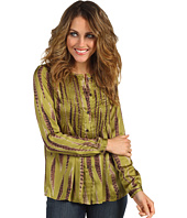 MICHAEL Michael Kors Petite - Petite L/S Feather Pintuck