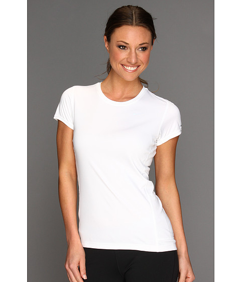 Nike - Miler S/S Crew Top (White/Reflective Silver) - Apparel