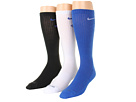 Nike - Dri-Fit Fly Crew 3-Pair Pack (Game Royal/White/White/Game Royal/Black/Game Royal)