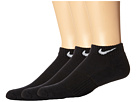 Nike - Cotton Cushion Low Cut with Moisture Management 3-Pair Pack (Black/White)