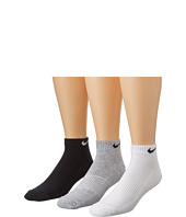 Nike - Cotton Cushion Low Cut with Moisture Management 3-Pair Pack