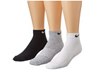 Nike - Cotton Cushion Low Cut with Moisture Management 3-Pair Pack (Grey Heather/Black/White/Black/Black/White)