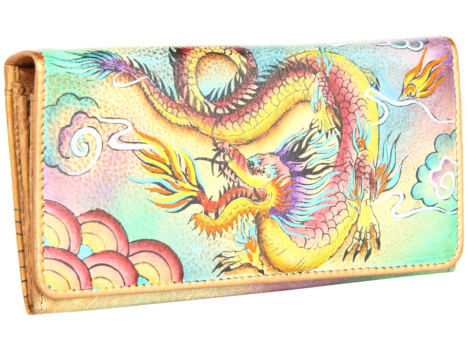 Anuschka Handbags - 1095 (Imperial Dragon) Checkbook Wallet