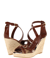 Burberry - Check Patent Crisscross Strap Espadrille Wedges